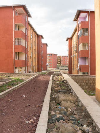 Addis Ababa - June 11: A few of the several thousand newly constructed Condominiums are being occupied by residents of the city. Addis Ababa, Ethiopia June 11, 2016.