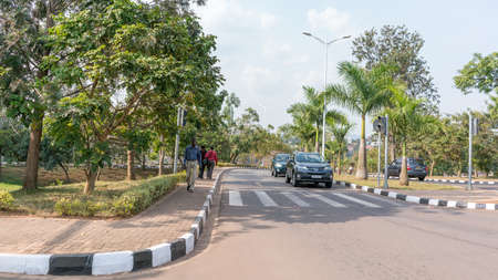 spotless: Kigali - June 14: Kigali is regarded as one of the cleanest cities in Africa with beautiful landscaping, spotless and orderly streets. June 14, 2016 Kigali, Rwanda Editorial
