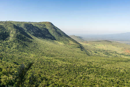 great plains: View of the Great Rift Valley from a viewpoint in Kenya