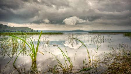 The shores of the beautiful Hawassa lake in Hawassa, Ethiopia Imagens