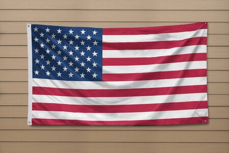 United States of America Flag hanging on a wall Foto de archivo