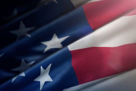 United States flag closeup