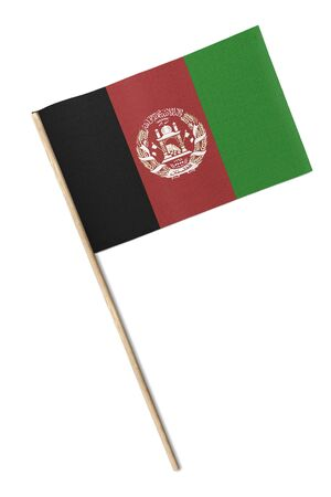 Small Afghanistan flag isolated on white