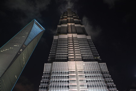jin mao tower: Night of the Jin Mao Tower and the world financial center