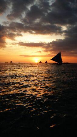 magnificent mile: Sea sunset Stock Photo