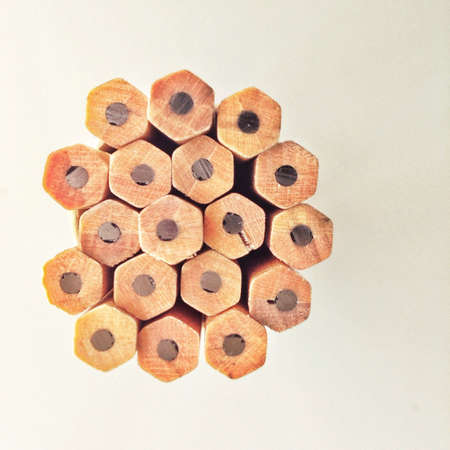 Pencils stacked together
