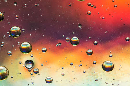multicoloured: Multicoloured oil and water abstract Stock Photo