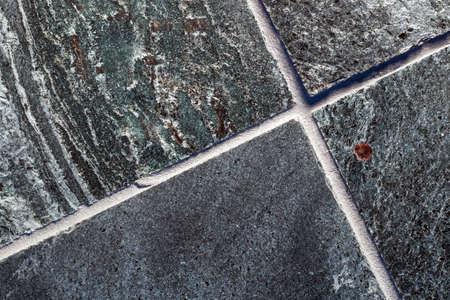 Polished quartzite tile flooring