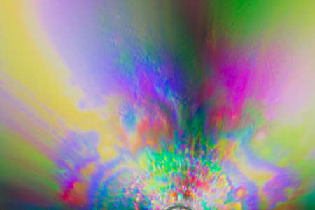 spectra: Colorful psychedelic blur showing stress distribution in plastic using polarized light Stock Photo