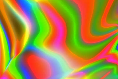Colorful psychedelic abstract showing stress distribution in plastic using polarized light Stock Photo