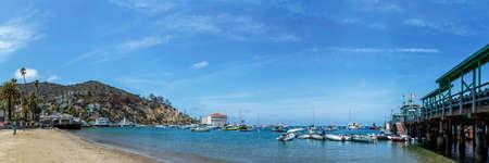 beach panorama: Catalina Pier and Beach Panorama