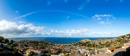 california beach: California Beach Panorama Stock Photo