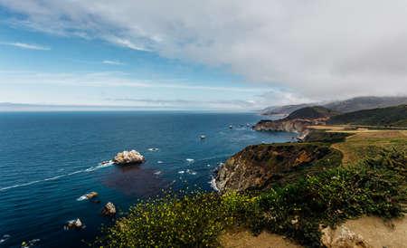 bixby: California Coast Along Highway 1 - Cabrillo Highway Stock Photo