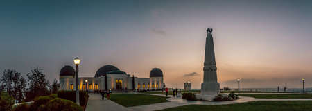 griffith: Griffith Observatory Dusk Panorama