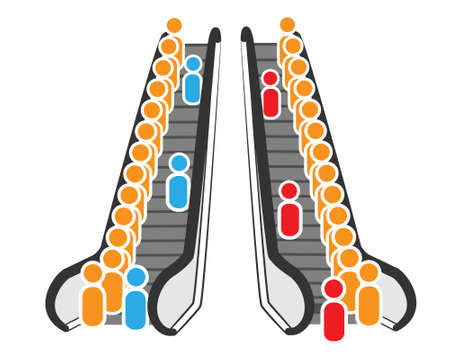Escalator illustration