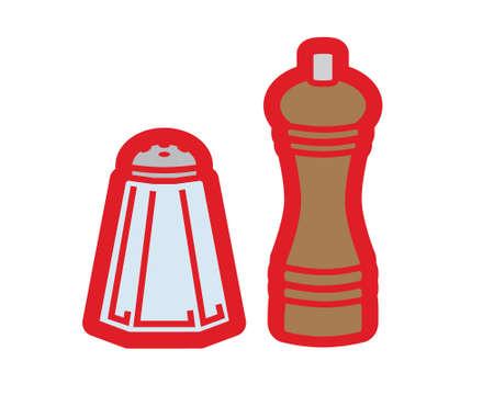 salt pepper: Sale and pepper illustration