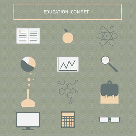 vector education banner concept, icon set Ilustração