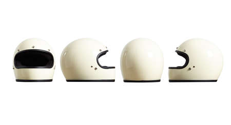 redesign: Set of sides of motorbike helmet fomr all sides isolated on white easy to cut out and redesign LANG_EVOIMAGES