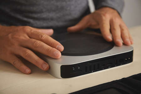 disassemble: Master is ready to disassemble personal computer to upgrade and clean it