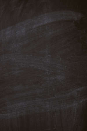 Black chalk board texture background with chalk rubbed out