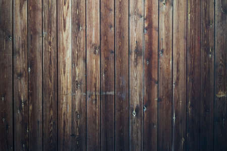 Dark brown wooden boards background, overall view. Standard-Bild