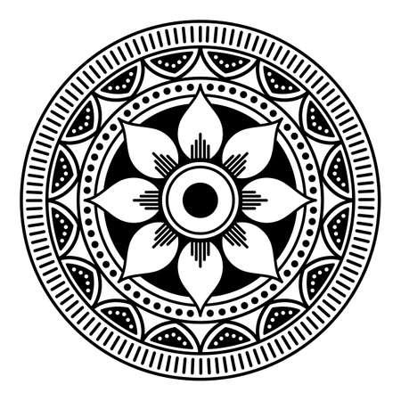 Ethnic Mandala Ornament. Arabic, Pakistan, Moroccan, Turkish, Indian, Spain motifs Standard-Bild