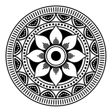 Ethnic Mandala Ornament. Arabic, Pakistan, Moroccan, Turkish, Indian, Spain motifs Stock Photo