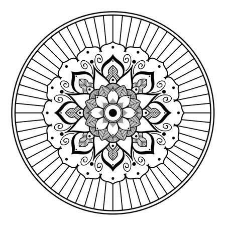 Mandala decorative ornament on white
