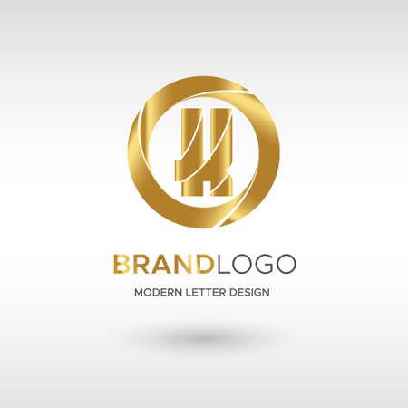 Premium Vector K Logo in GOLD. Beautiful Logotype design for company branding. Elegant identity design in blue