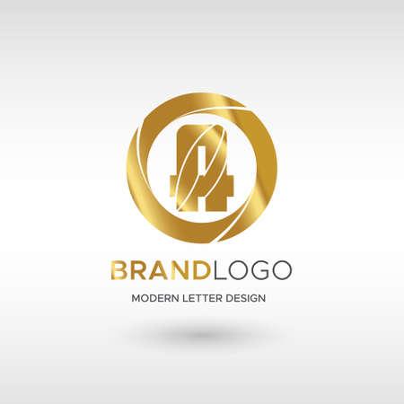 Premium Vector A Logo in GOLD. Beautiful Logotype design for company branding. Elegant identity design in blue