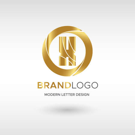 Premium Vector X Logo in GOLD. Beautiful Logotype design for company branding. Elegant identity design in blue Illusztráció