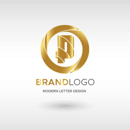 Premium Vector P Logo in GOLD. Beautiful Logotype design for company branding. Elegant identity design in blue