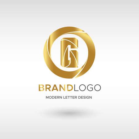 Premium Vector G Logo in GOLD. Beautiful Logotype design for company branding. Elegant identity design in blue Illusztráció