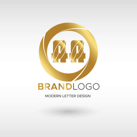 Premium Vector AA Logo in GOLD. Beautiful Logotype design for company branding. Elegant identity design in GOLD