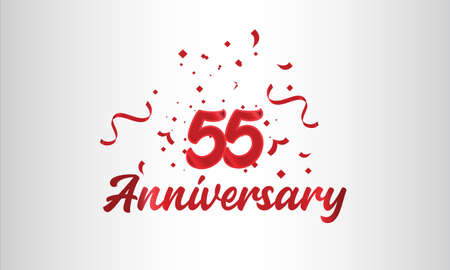 Anniversary celebration background. with the 55th number in gold and with the words golden anniversary celebration.
