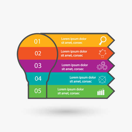 Modern info graphic framework. can be used for workflow layout, diagrams, option numbers, timelines and steps. Simple and Minimalist style. vector Illustration infographic framework. can be used for workflow layout, diagrams, option numbers, timelines and steps