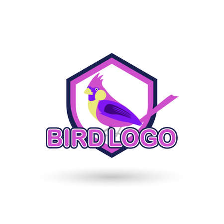 Bird Logo modern style, can use for mascot brand business. Vector illustrations
