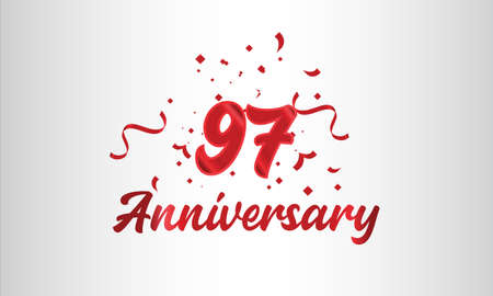 Anniversary celebration background. with the 97th number in gold and with the words golden anniversary celebration.