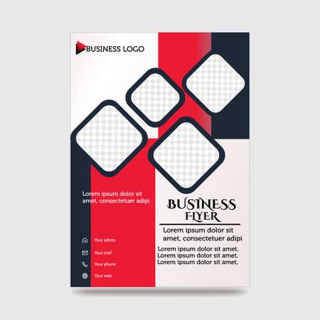 Blue Flyer Template Layout Design. Corporate Business Flyer, Brochure, Annual Report, Catalog, Magazine Mock up. Creative Modern Bright Flyer Concept with Square Shapes Vektoros illusztráció
