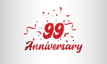 Anniversary celebration background. with the 99th number in gold and with the words golden anniversary celebration.