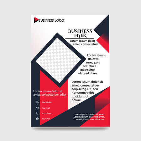 Brochure creative design. Multipurpose template with cover, back and inside pages.