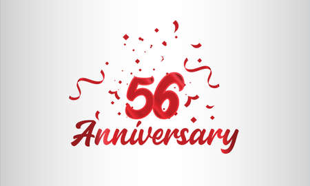 Anniversary celebration background. with the 56th number in gold and with the words golden anniversary celebration.