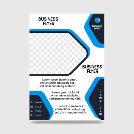 Brochure Flyer creative design. Multipurpose Shape template. Trendy minimalist flat geometric design. Vertical vector illustration
