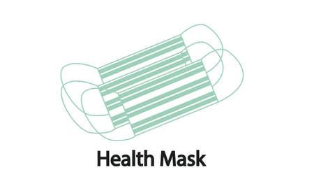 Health mask, to ward off viruses. Vector Illustration