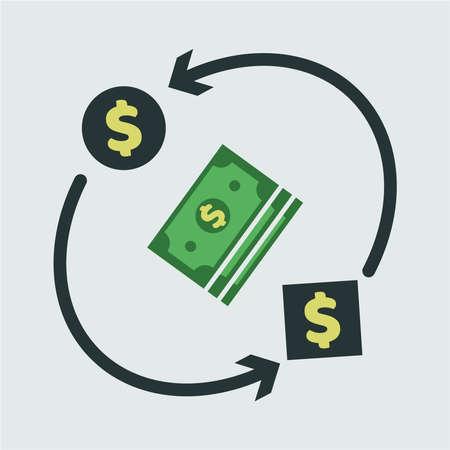 Cash flow icon vector illustration