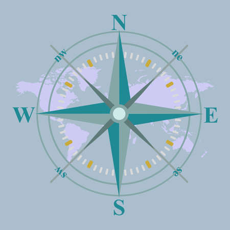 compass design vector illustration with map Illustration