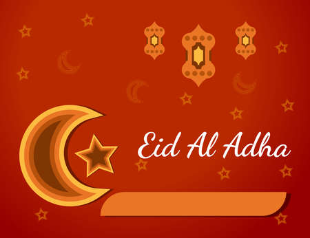 Eid al adha background vector illustration