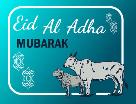 Eid al adha mubarak background vector illustration