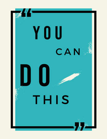 You Can Do This Typography with blue background. Quotes , motivation, positive inspiration for poster, t shirt. Text Background Vectores