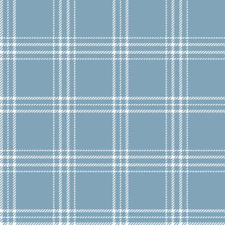 Retro Blue and White tartan plaid Scottish pattern.Texture from plaid, tablecloths, clothes, shirts, dresses, paper, bedding, blankets and other textile products